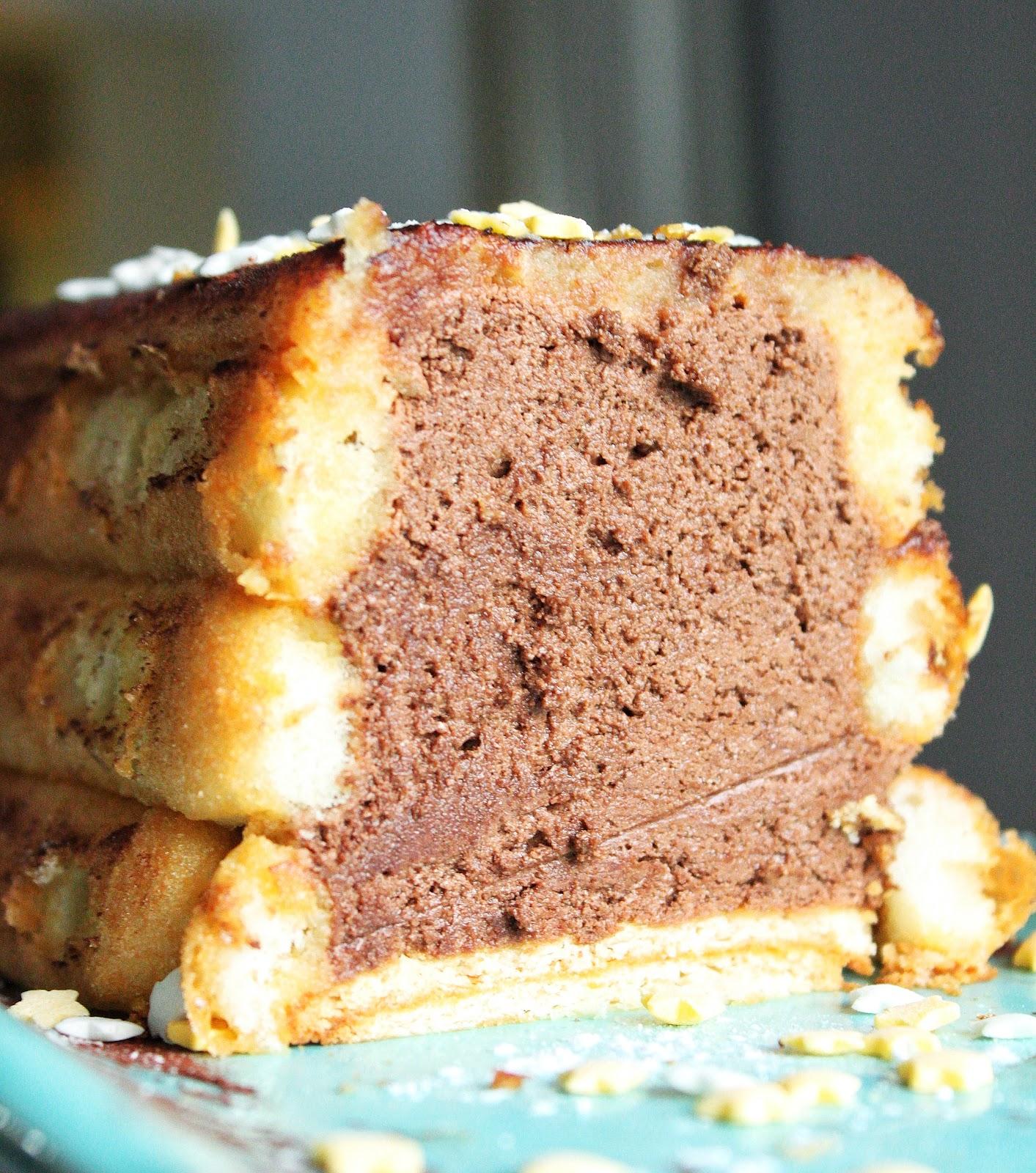 Mousse au chocolat d guis e en b che sof vous invite for Buche a la mousse au chocolat