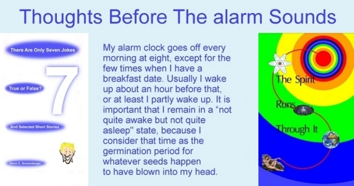 Thoughts Before The Alarm Sounds