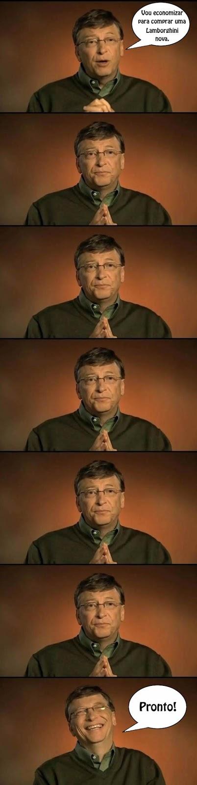 Bill Gates e sua Lamborghini nova