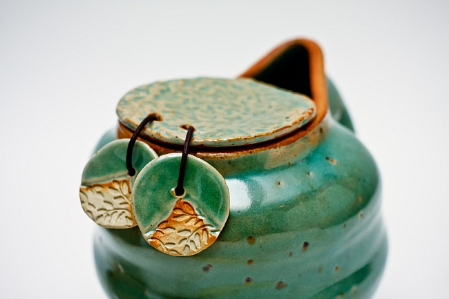 Aqua ceramic tea pot by Mia Casal