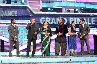Anil Kapoor and Mithun at Dance India Dance's grand finale