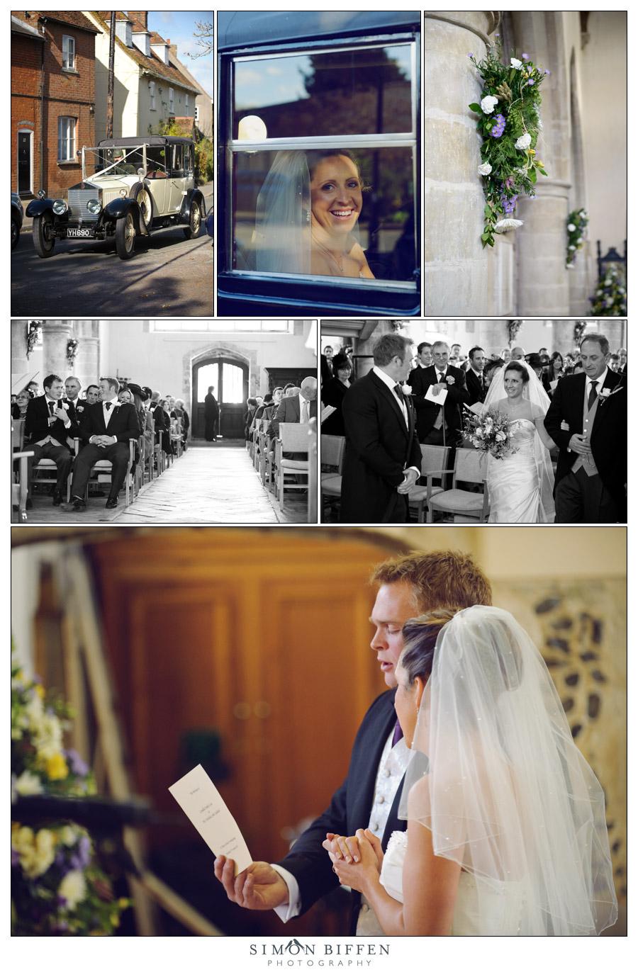 Wedding ceremony St Marys Church, Fordingbridge - Simon Biffen Photography