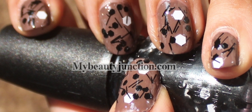China Glaze Whirled Away nail polish swatch over Essie Mink Muffs review