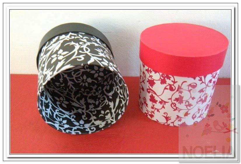 Tienda de cajas cajas forradas en papel redondas - Cajas forradas de papel ...