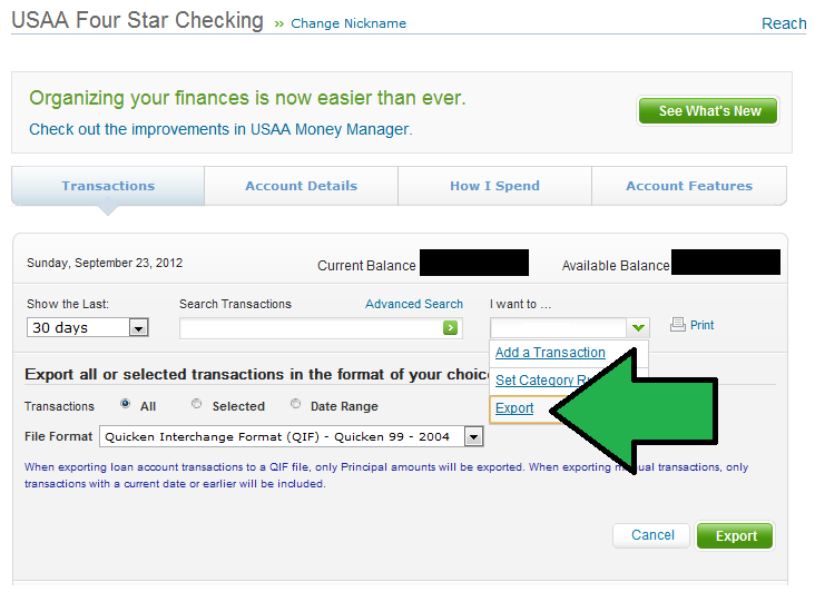 Usaa 1800 Number >> Export Usaa Transactions To A Csv File What The Stock