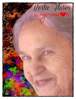 BERTA FLORES, su rojo corazon