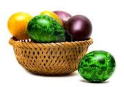 ¡¡¡Esta semana santa he superado mi record de entradas en el blog por mes! huevos de pascua en una cesta