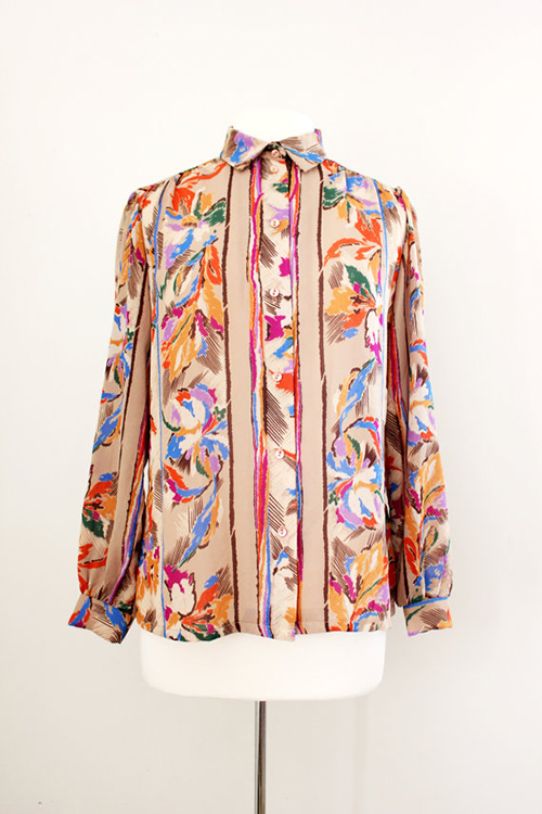 vintage chiffon blouse by teddi of california