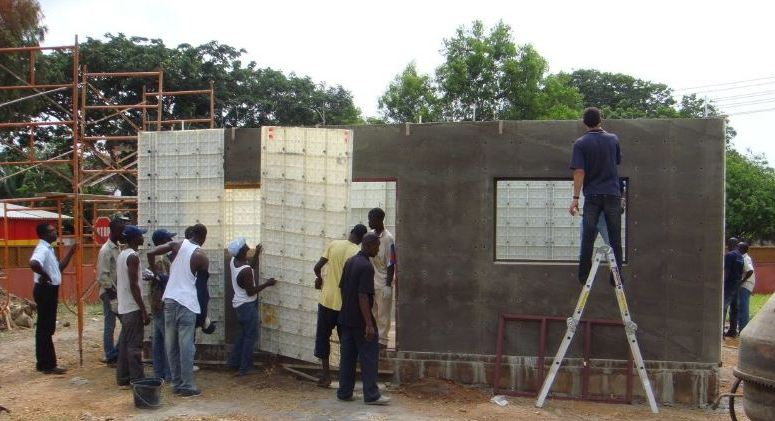 Low cost housing plastic formwork construction system for Cost of building materials