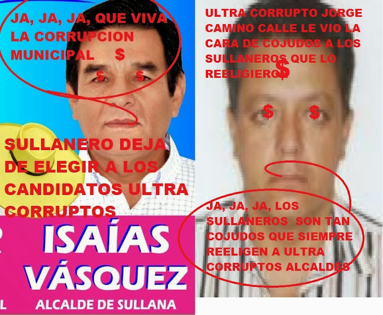 BASTA YA DE TANTA CORRUPCION