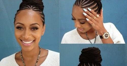 Keri Hilson Rocks Shuku Hairstyle With Ghana Weaving