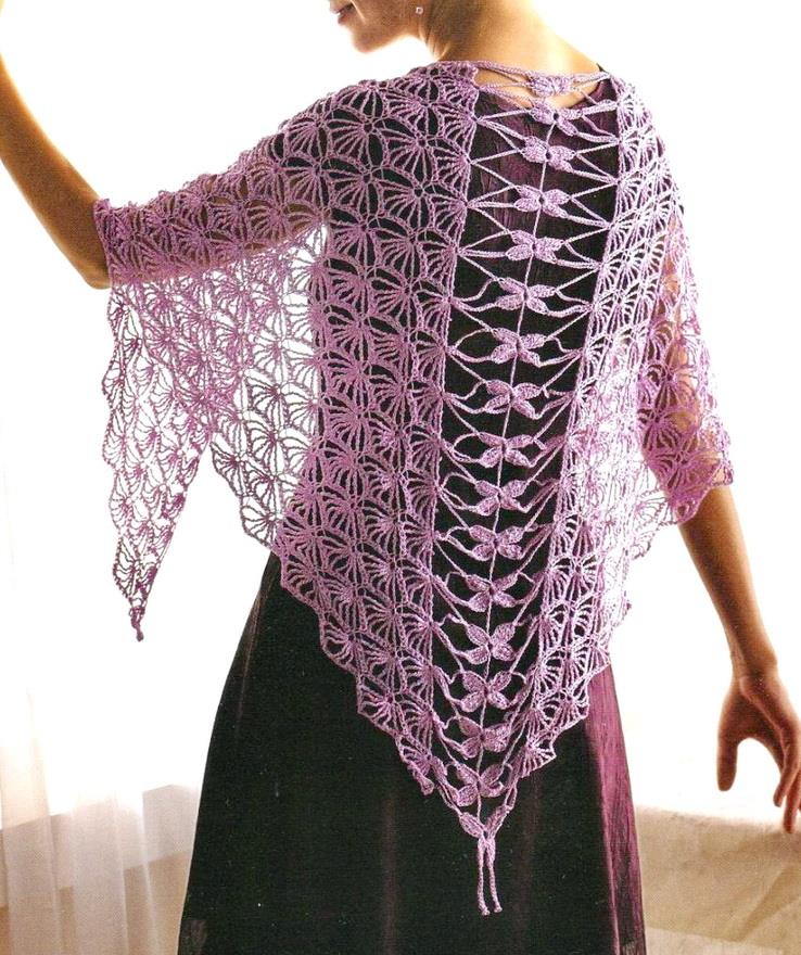 Crochet Patterns For Shawls : Crochet Shawls: Crochet Shawl Pattern - So Fine