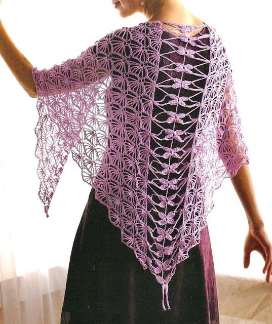 Crochet Patterns Wraps : Crochet Shawls: Crochet Shawl Pattern - So Fine