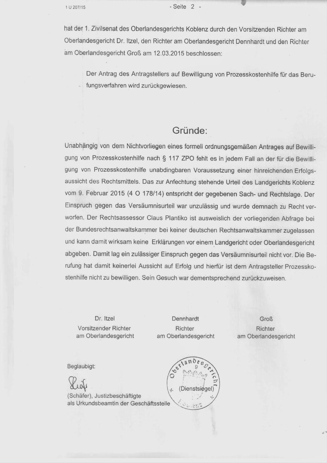 detlef baum 0815 madnes den 1 april 2015 - Einspruch Gegen Versaumnisurteil Muster