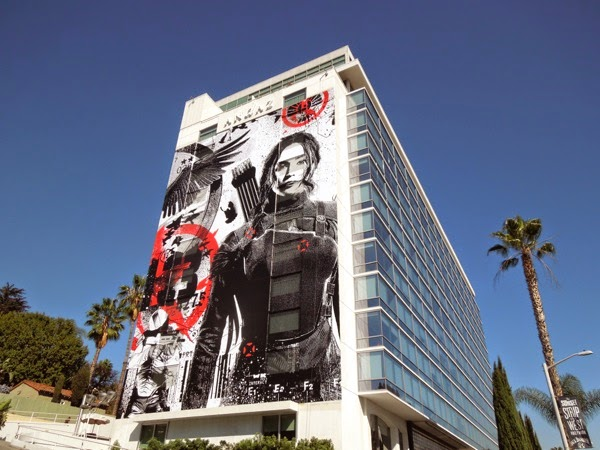 Hunger Games Mockingjay Part I giant billboard