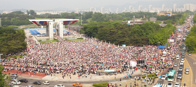 Peace Festival crowd Korea September 2012