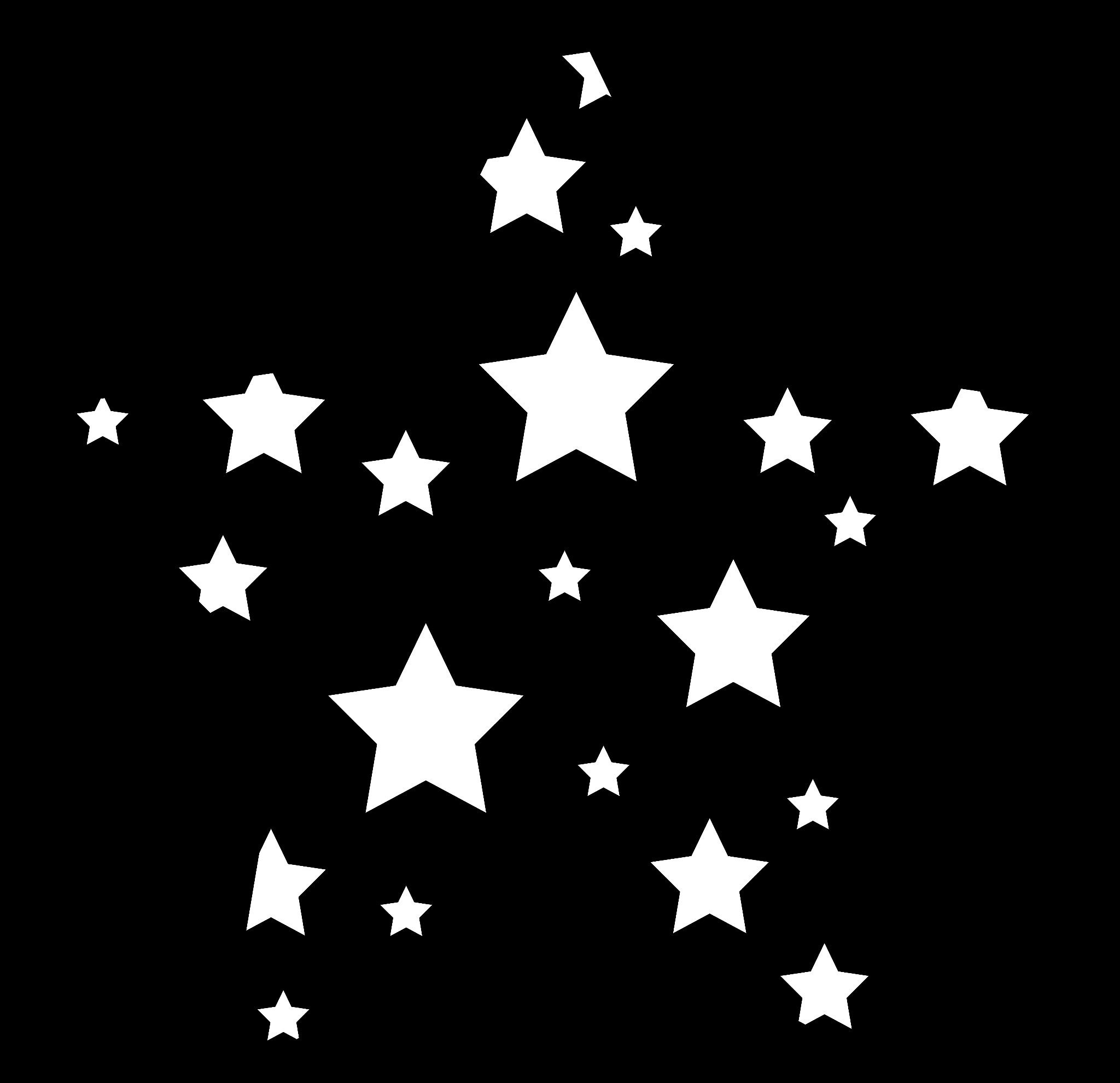 Starry Sky Clipart Black And White Shooting stars clipart