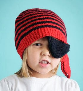 Fun Pirate Knitted Hat