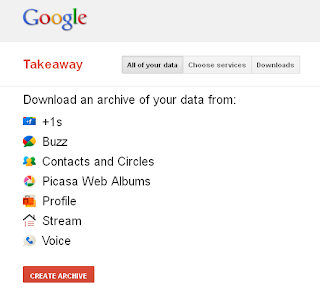 Backup your Google account