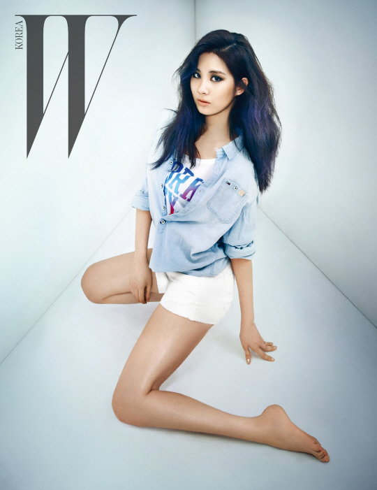Seohyun flaunt her sexiness for 'W' Magazine