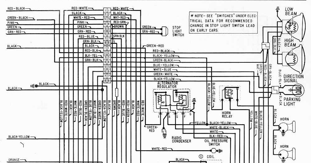 Diagram Circuit  Mercury V8 Monterey 1963 Wiring Diagram Right Side Part