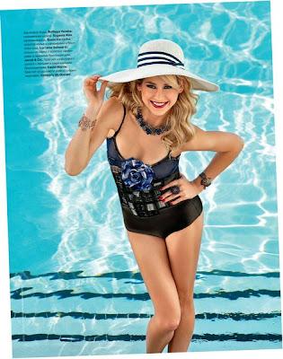 Anna Kournikova In Her Swimsuit For Tatler Images