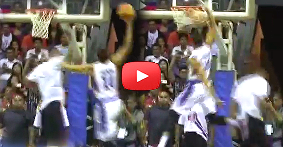 Japeth Aguilar Dunks on Tyson Chandler (VIDEO) Last HOME Stand