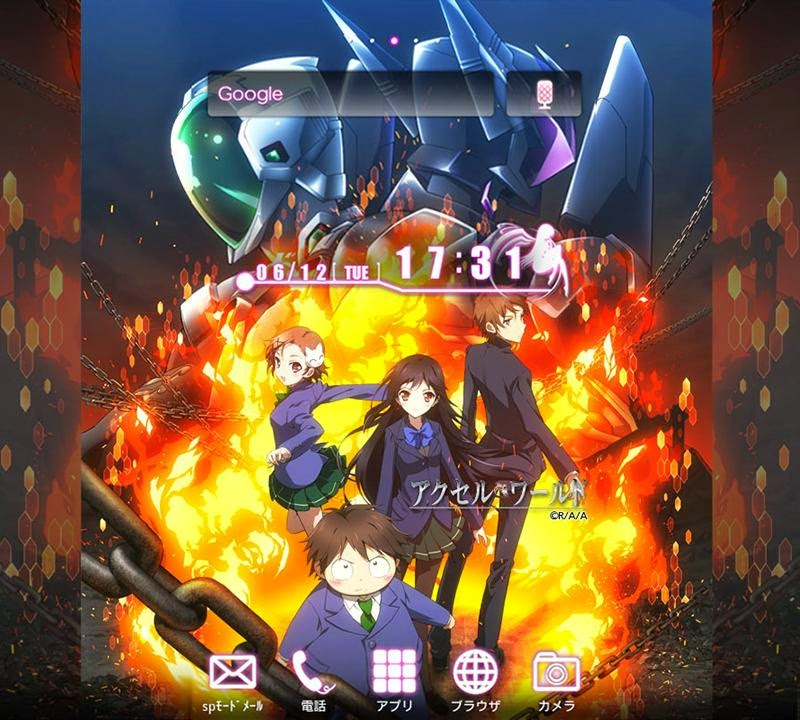 Accel World Android Theme