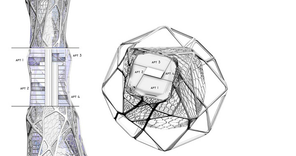 Parametric Generative Design Bionic Tower Combines