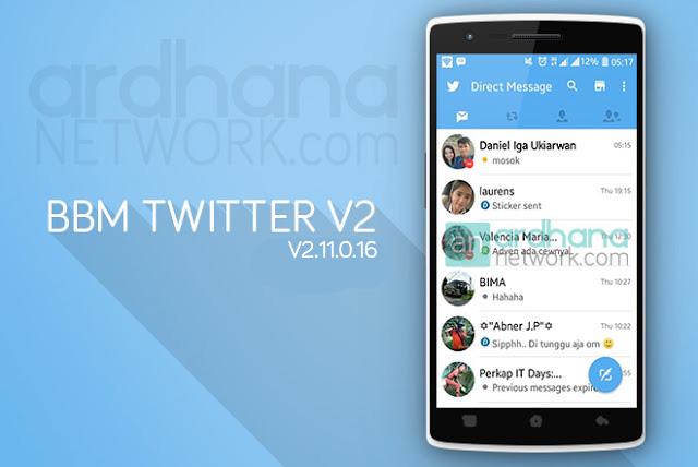 BBM Twitter V2 - BBM Android V2.11.0.16