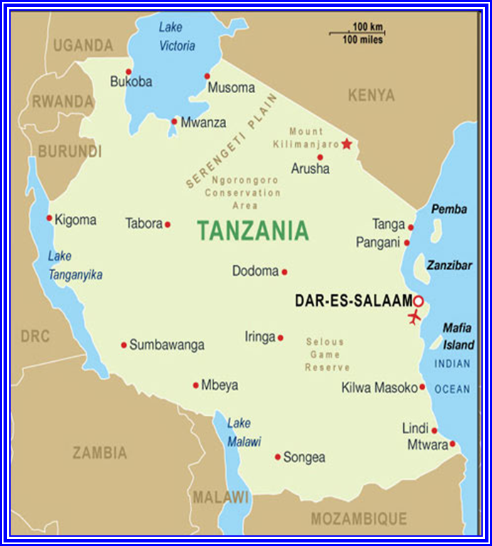 Tanzania Lake Victoria Map