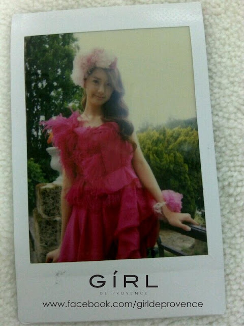 [PICTURE] Yoona Girl Perfume Photo Update Polaroid