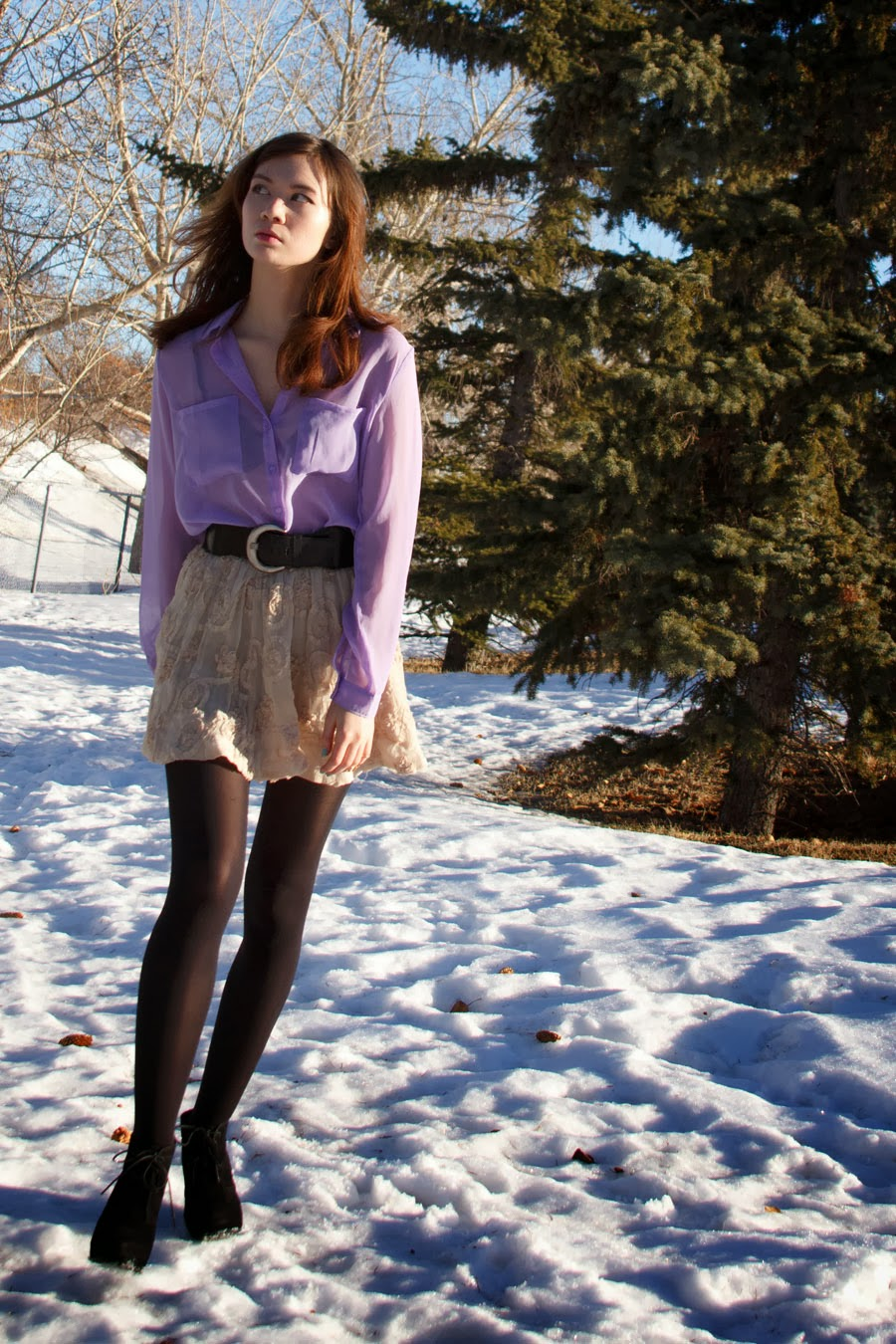 Forever21, Chiffon, party outfit, Juicy Couture, Arm Candy, Steve Madden, wedge booties, spring fashion, winter fashion