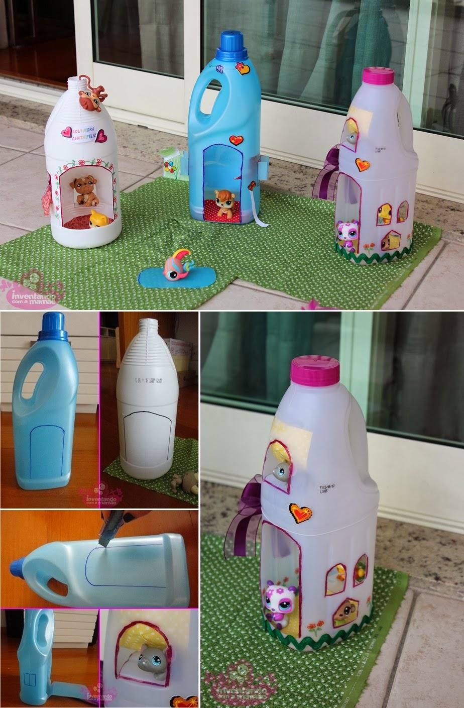 Diy plastic bottle doll houses diy craft projects for Diy plastic bottle crafts