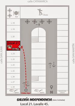mapita de la Galería Independencia