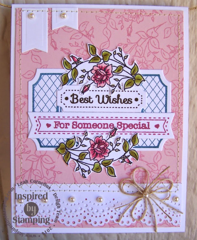 Inspired by Stamping, Leah Cornelius, Fancy Labels 3 Die, Fancy Labels 3 stamp set, birthday card, thinking of you card