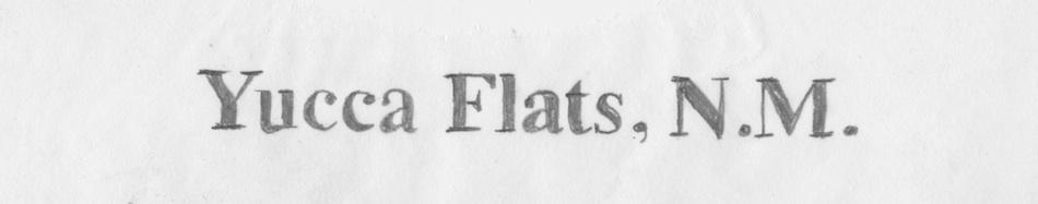 Yucca Flats, N.M.
