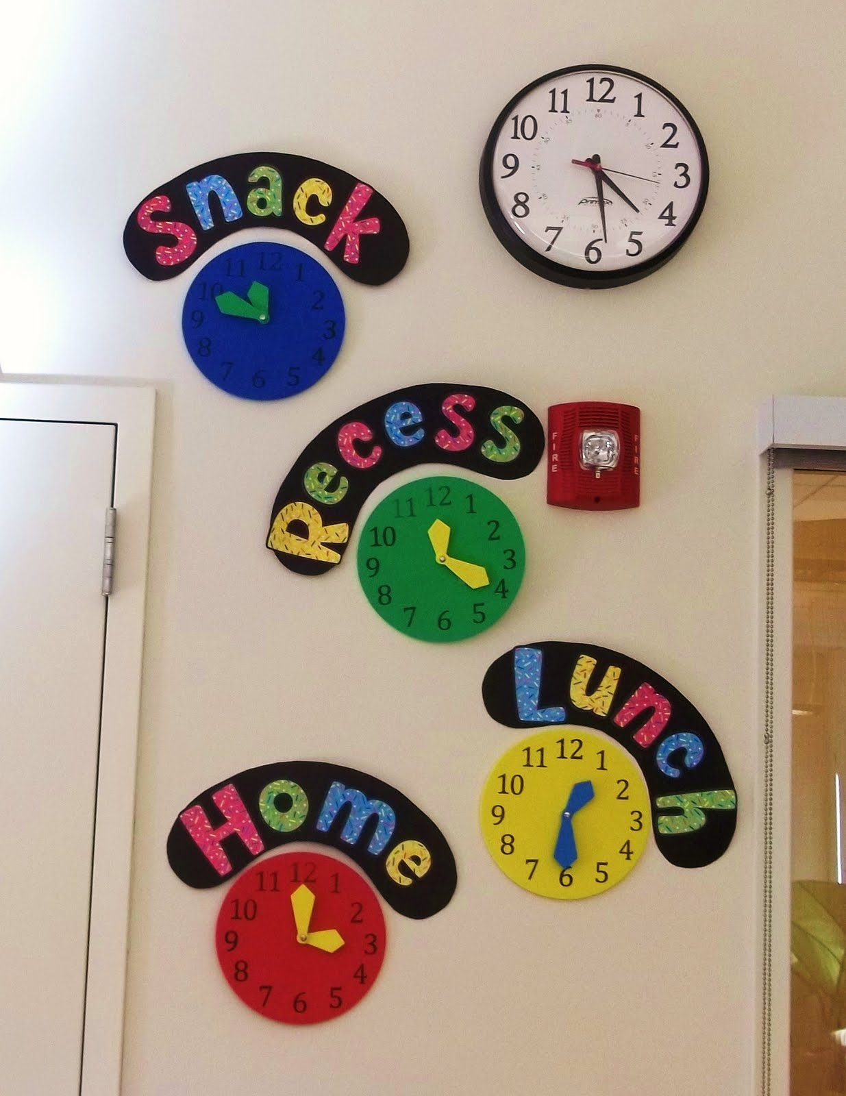 the famous pinterest clock wall with foam clocks from target i love
