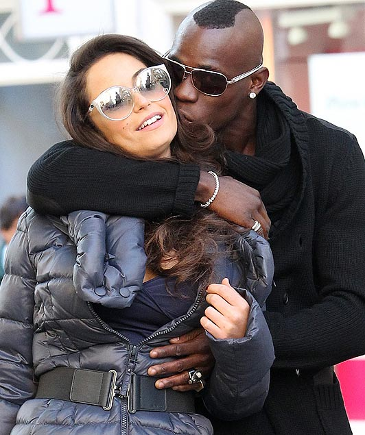 Football Stars: Mario Balotelli & Girlfriend Raffaella Fico New Photos