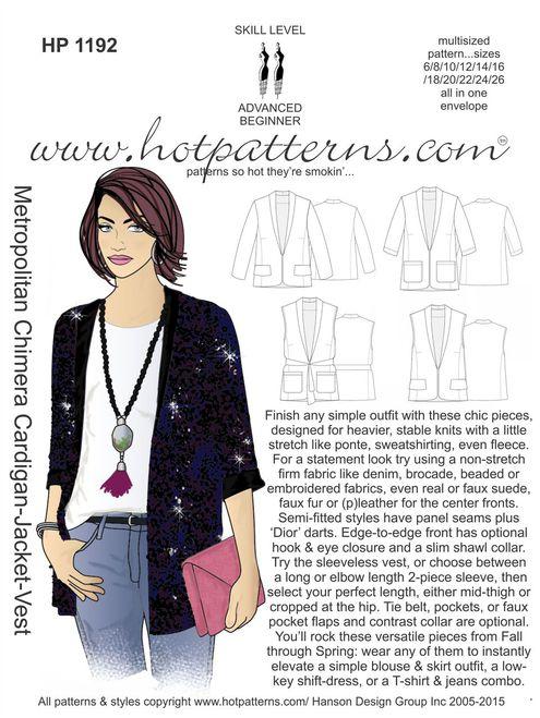 Carolyn\'s Sewing Room: Hot Patterns Metropolitan Chimera Vest and Jacket