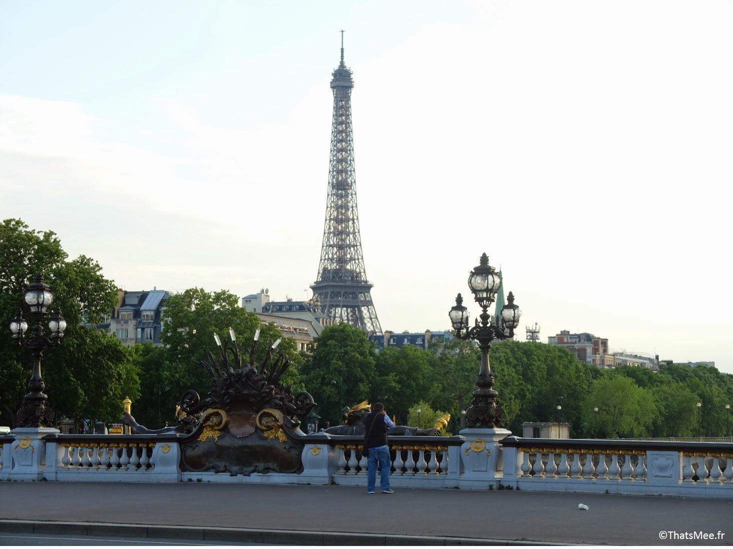 Tour Eiffel terrasse sur seine Les Berges Port Pont Alexandre III Paris (c) Thatsmee.fr