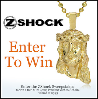 mini Jesus piece pendant sweepstakes by ZShock