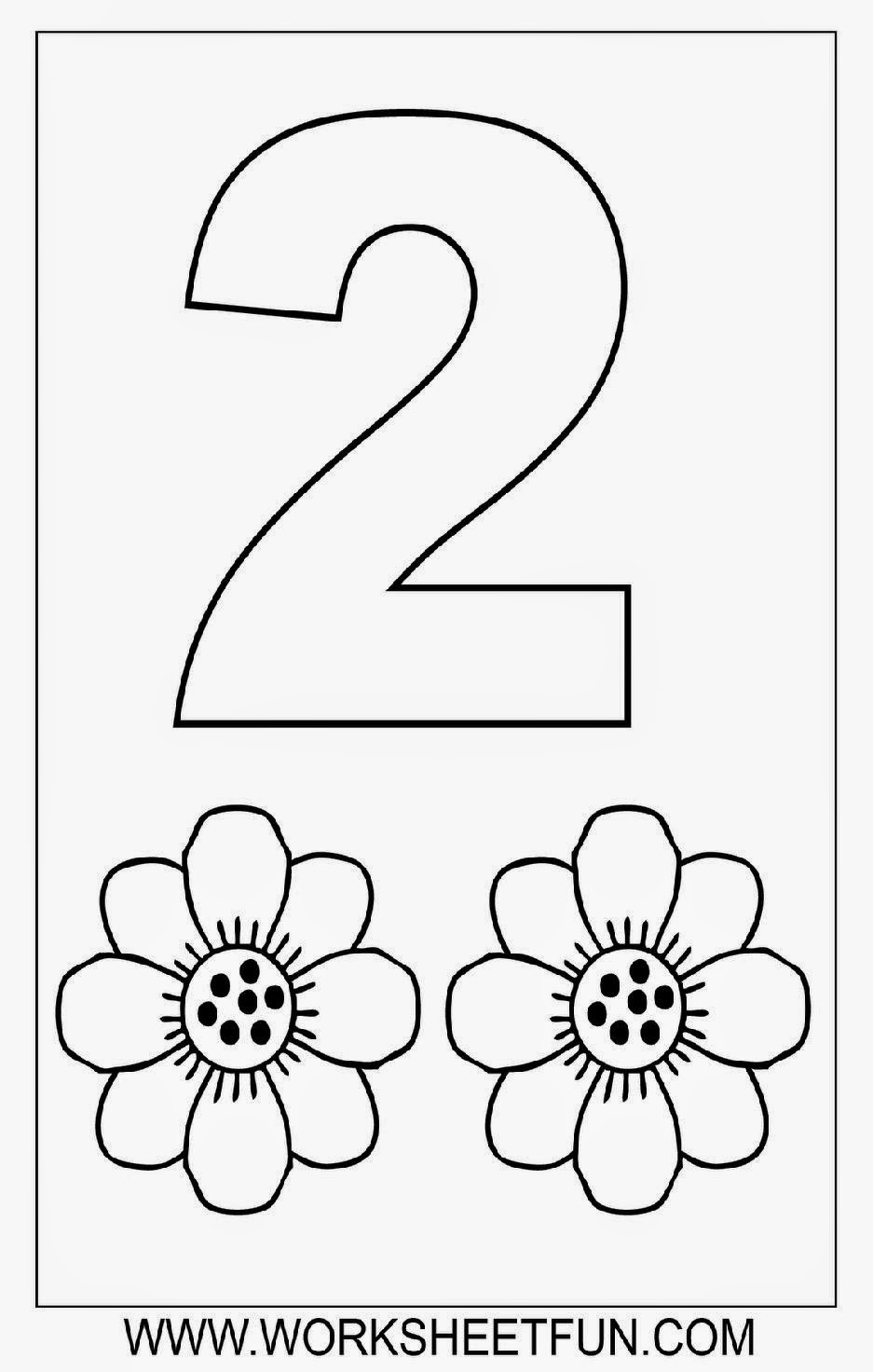 Numbers Worksheetfun Com : Number coloring sheets free sheet
