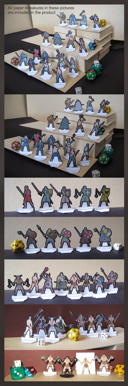 Warriors Paper Miniatures LVMENES