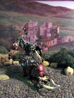 Warhammer Fantasy Orc Warboss on Boar