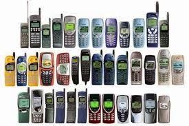 komórki, zesputy telefon, nieużywany telefon