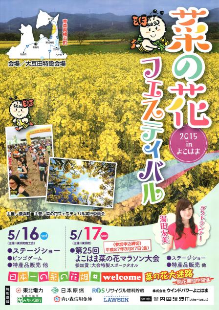 2015 Canola Festival in Yokohama Flyer 2015菜の花フェスティバルinよこはま チラシ