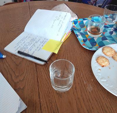 cahier, working, gâteau, bullelodie