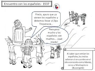 Encuentro Indios con españoles