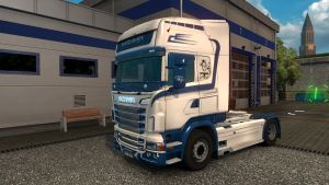 White Shark Skin for Scania RJL
